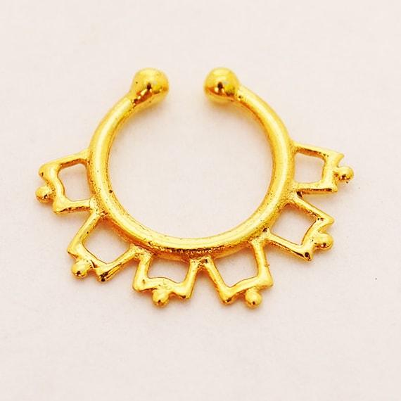 ON SALE 18g fake gold Septum Ring.