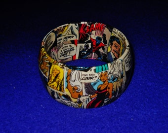 Hand-made and One of a kind Decoupage Bracelet - Marvel Comics