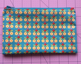 Flowers and Hearts Pencil Case