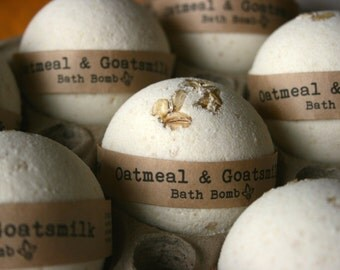 Oatmeal & Goats Milk Bath Bomb, Bath Fizzy, Natural Bath Bomb, Great Gift Idea!