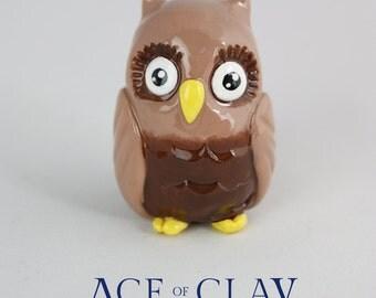 Polymer Clay Owl Sculpture