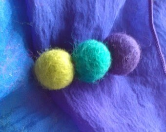 Felted Wool brooch lapel pin. Jacket Hat Purse accessory Handmade gifts under 15 for Mom Girlfriend Daughter BFF ECO Friendly Jewelry