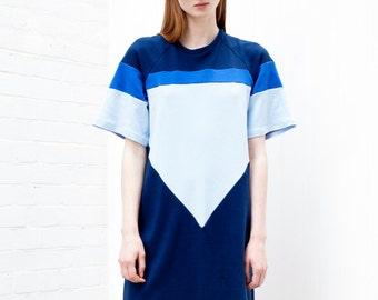 Tshirt dress / over sized dress / jersey dress / color block dress / cotton dress / colour block dress / cotton jersey dress