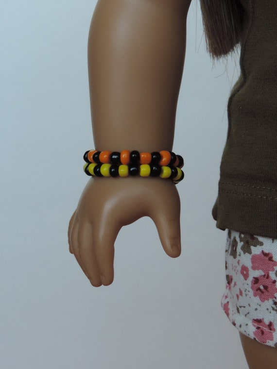 Orange, Black and Yellow Bracelets - American Girl Doll Clothes
