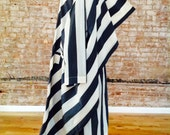 Issey Miyake RARE runway one of a kind 1980-1990s vintage bold striped flying squirrel batwing coat vintage Avant Garde All Rights Reserved