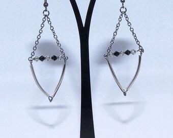 Swarovski Crystal Bead Swing Earrings