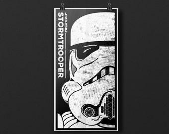 "Star Wars – Stormtrooper 9""x17"" Screen Printed Poster"