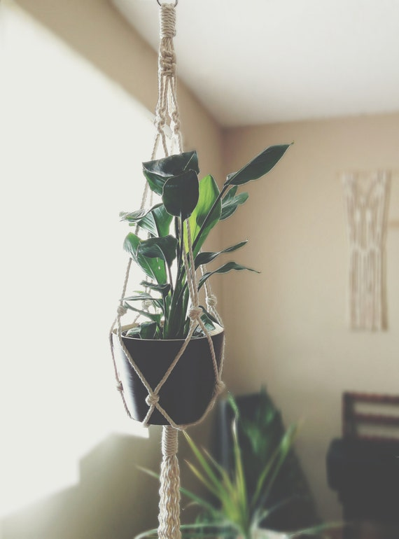 Large Macrame Plant Hanger By Freefille On Etsy