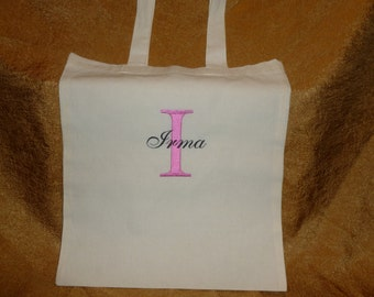 Personalized Embroidered Tote Bag