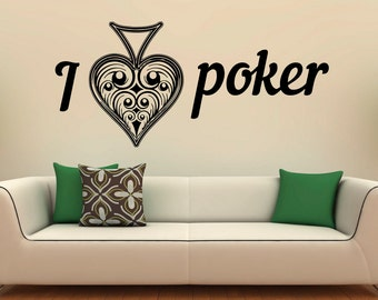 Playing Cards Poker Ace Wall Decal Vinyl Stickers Gambling Casino Home Interior Design Art Murals Bedroom Decor (23csn1p)