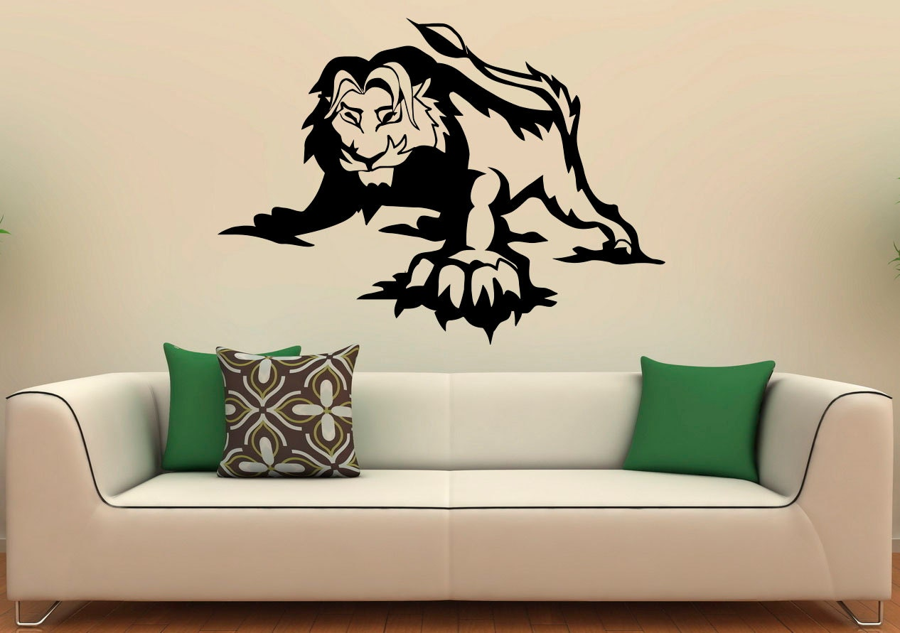 Lion Wall Decal Vinyl Stickers Wild Cat Pride Animals Home