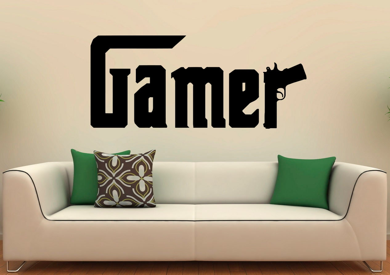 Stars Stickers For Walls Gamer Wall Decal Video Games Vinyl Stickers Interior
