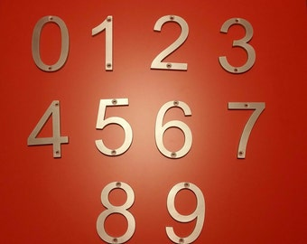 Metal House Numbers and Letters