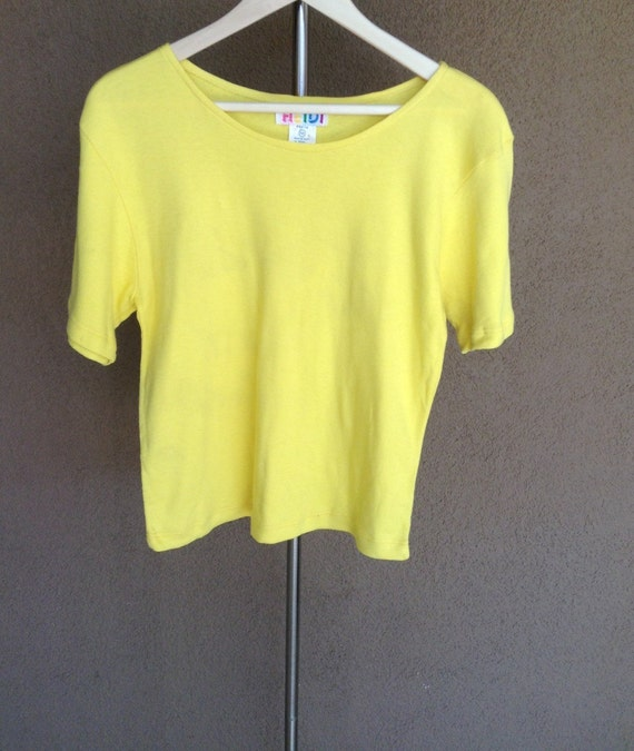 Vintage Yellow 100 Egyptian Cotton T Shirt By