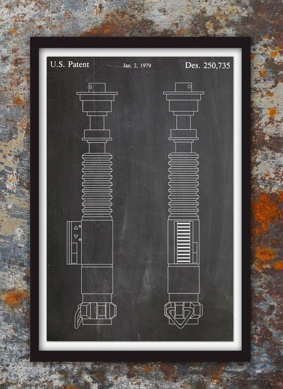 Lightsaber Star Wars Patent Wall Print Patent Art Star Wars