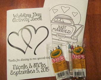 Wedding Day Kids Activity Book 16 pages {Digital File Only}