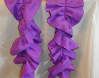 Fleece Ruffle Scarves - Plain Colors