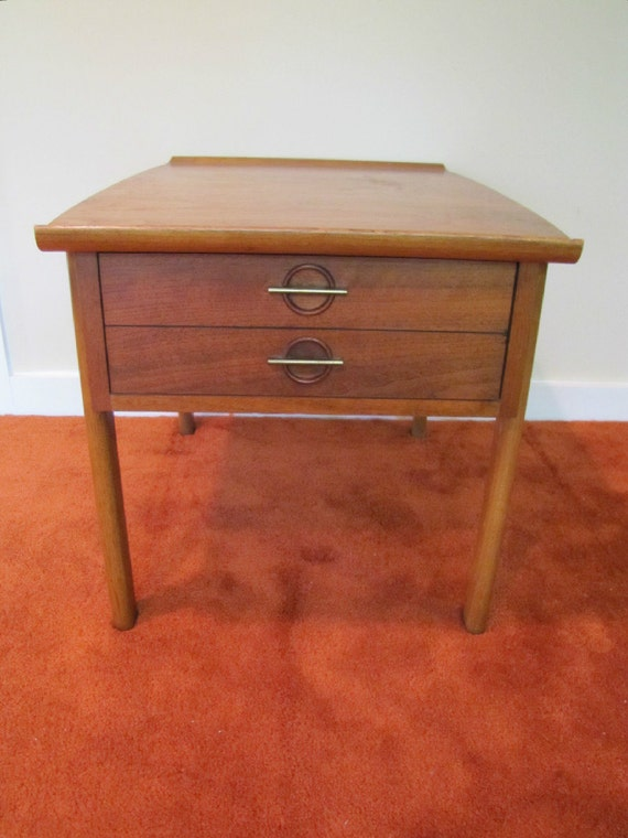 Mid century modern lane side table end table retro lane side for Retro end tables