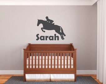 Equestrian - Horse Jumping Wall Decal