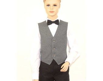 Kids Heather Grey Full Back Dress Vest