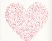 Nursery wall art,  heart nursery, watercolor heart, pink heart, pink heart nursery print, heart nursery print, pink heart, wall art, 8 x 10