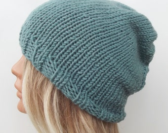 Knit hat knit slouch hat beanie hat women hat knit women hat wool hat slouchy hat knit hat Many Color Avaliable