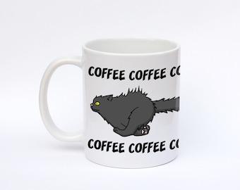 Crazy cat, Caffeinated cat, COFFEE COFFEE COFFEE