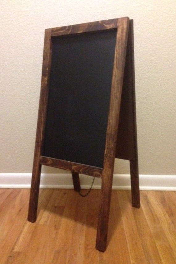 Rustic Chalkboard Easel Sandwich Board Double Sided A Frame