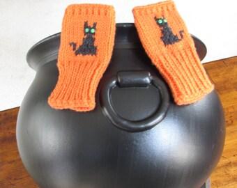 Childrens Hallowe'en Fingerless Gloves