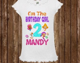 Bubble Guppies Birthday Shirt -  Bubble Guppies Girls Birthday Shirt