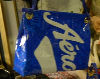 Purse - Free Shipping Too Cute Recycled Aeropostale Shopping Bag Recycle Upcycle Punk Purse Tote Handbag