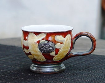 Pottery Cup, Handmade Espresso Cup, Coffee Cup, Cute Ceramic Cup, Coffee Mug, Pottery Mug, Wheel thrown Pottery, Pottery gift
