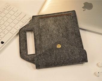 Dark Grey iPad Air 2 Case , iPad Air 2 Sleeve , iPad Air 2 Cover , iPad Air2  Sleeve , iPad Air Smart Cover #233