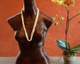 Eco-friendly paper mâché mannequin for jewelry, fashion & apparel display!