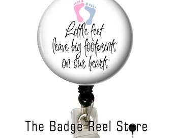 Retractable ID Badge Holder, Name Tag, Badge Reel, ID holder, Nurse, NICU, Pediatrics, Nursery