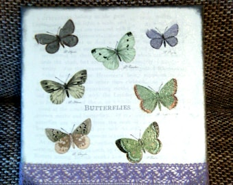 "Canvas wall art ""Romantic butterflies""!!!FREE SHIPPING!"