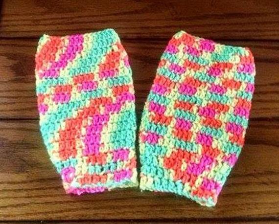 Free Crochet Patterns For Little Girl Leg Warmers : Handmade Little Girls Crocheted Leg Warmers by ...