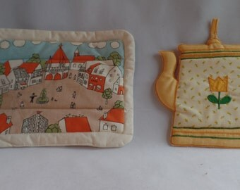Pair of Vintage Mid Century Pot Holders  New- Never Used