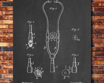 Stethoscope Patent Print Art 1882