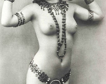 Photo of female figure with Egyptian accessories