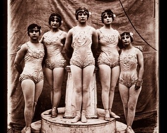 "Fred Glasier Photo, ""All Women Circus Act"" 1890-1925"