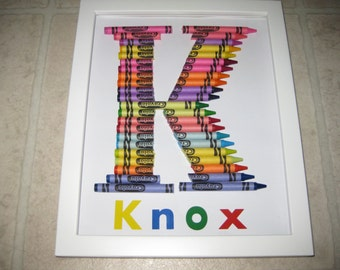 Crayola Letter (Non-Curved) - Personalized For You!