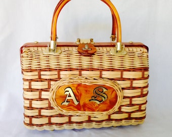 Vintage Basket Weave Purse