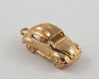 """Volkswagon """"Beetle"""" 10K Gold Vintage Charm For Bracelet"""