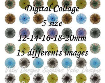 Eyes, Human Eyes, Digital Collage Sheet, Ready to print, 12mm, 14mm, 16mm, 18mm, 20mm, Instant Download