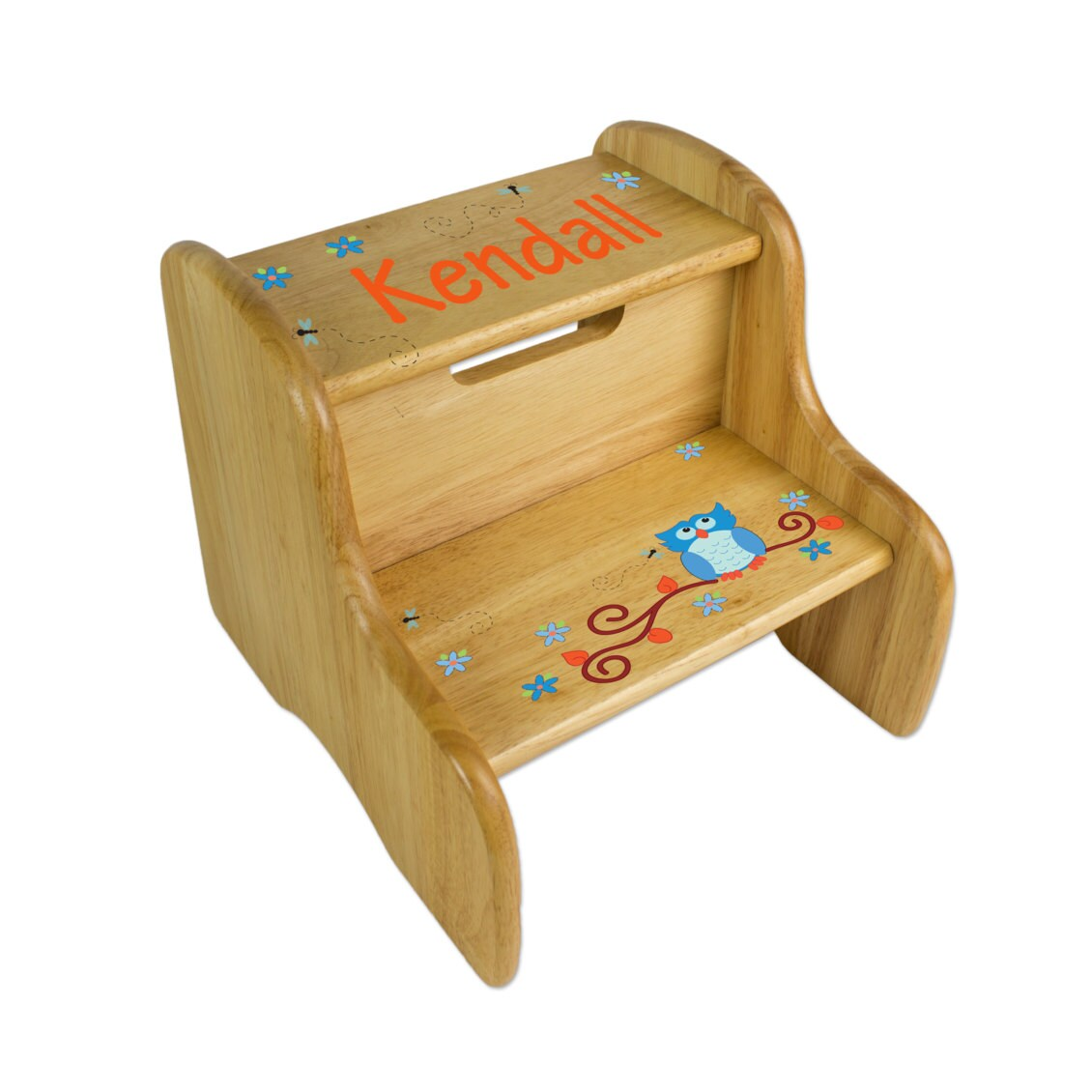 Personalized Large Wooden Step Stool For Kids By Wizkickgifts