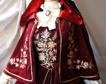 "SurfaceSpell ""House of Bourbon"" Original Baroque Embroidery Cape, Multiple Colours. Antique Lolita Accessory"