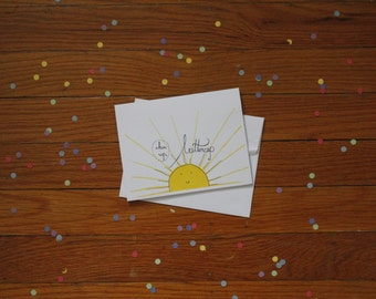 Chin Up, Buttercup Greeting Card