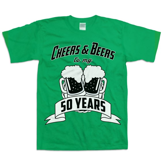 Funny 50th Birthday Gifts Presents For: Funny 50th Birthday Shirt Gift For Fifty Year Old Cheers And