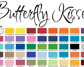 Butterfly Kisses Vinyl Wall Quote Decal